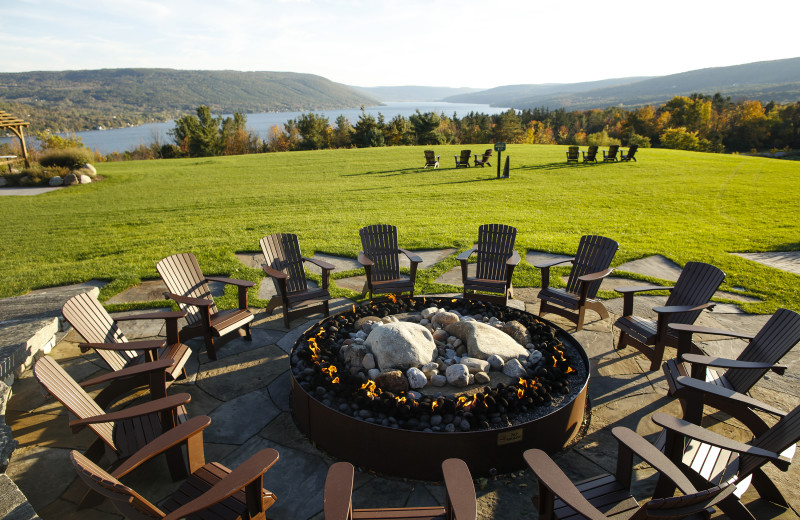 Fire pit at Bristol Harbour.