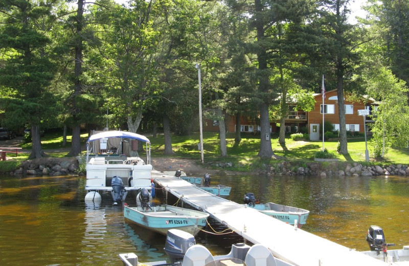 Dock view at Mogasheen Resort.