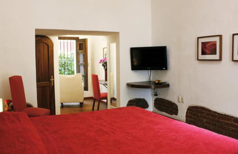 Guest room at Casa Oaxaca.
