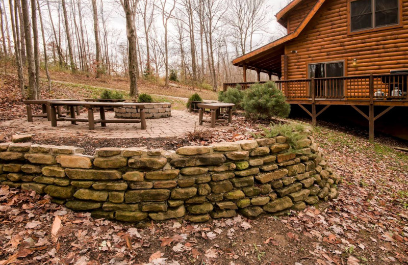 Patio at The Lodge at Lane's End.
