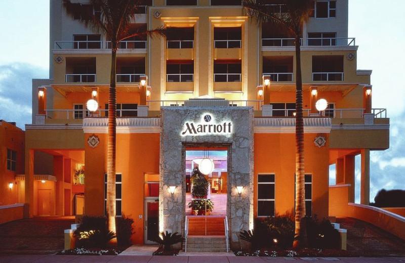 Exterior view of Miami Beach Marriott at South Beach.