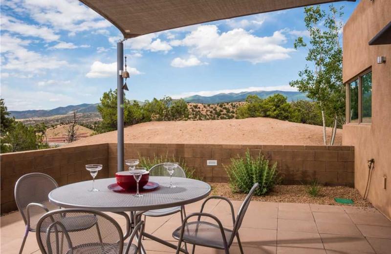 Rental patio at Vacation Rental Pros - Santa Fe.