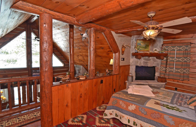 Cabin interior at Grand Pines Resort.