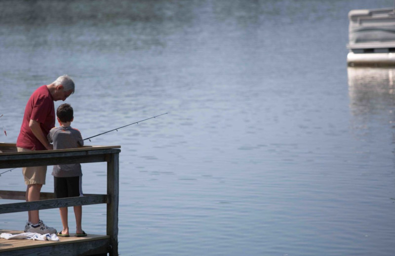 Fishing at Woodloch Resort.