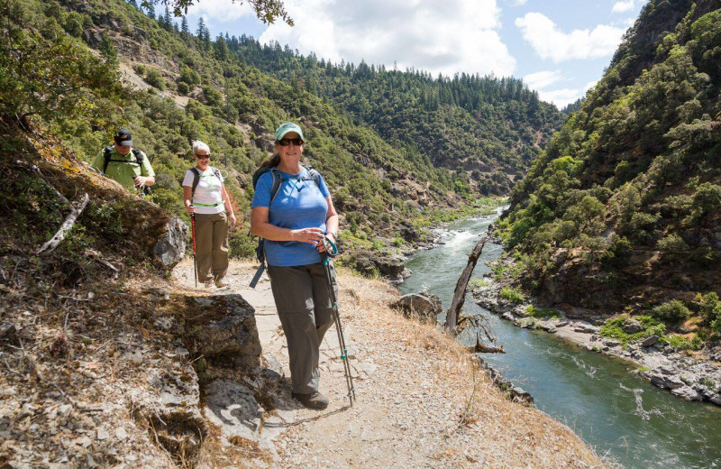 Hiking at Morrison's Rogue River Lodge.