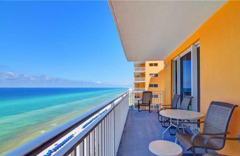 Guest balcony at Splash Resort.