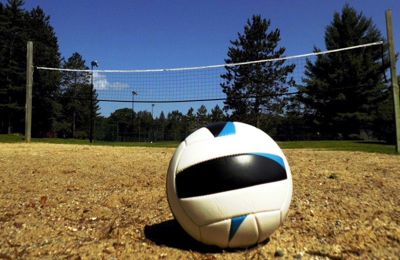 Volleyball court at Garland Lodge and Resort.