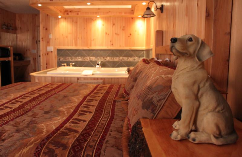 Guest room at Vacationland Inn.