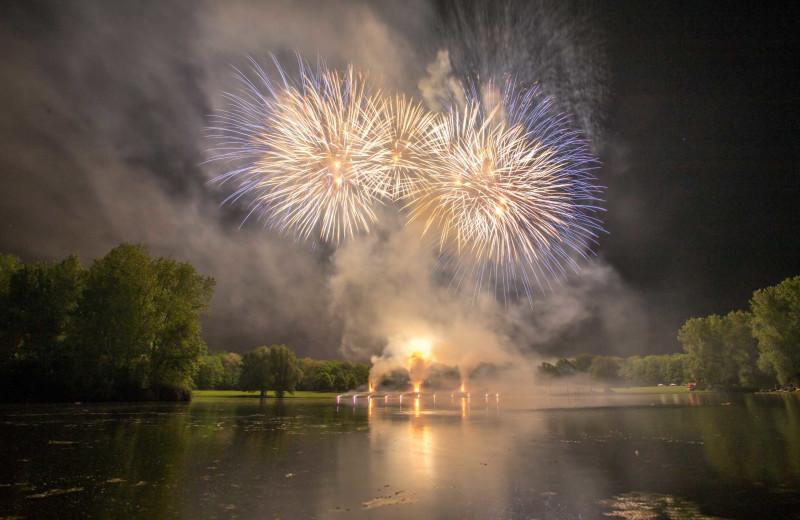 Fireworks at Apple Island Resort.