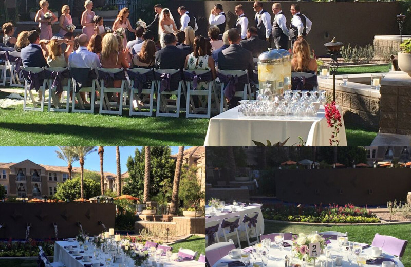 Wedding at Gainey Suites Hotel.