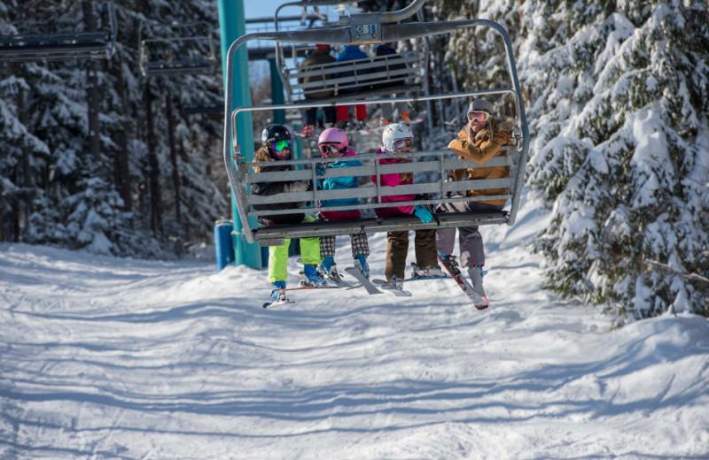 Ski lift at Holiday Valley Resort.