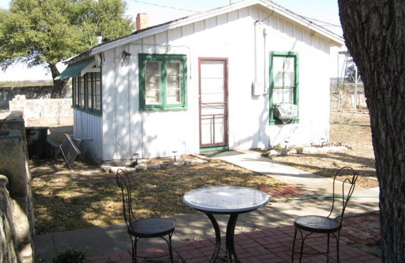 Cottage exterior at Calf Creek Ranch.