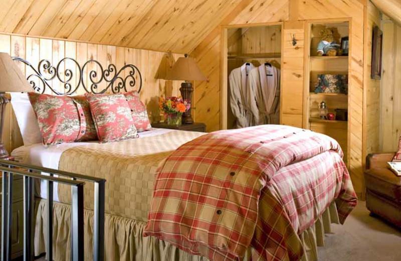 Guest room at O-Bar-O Cabins.