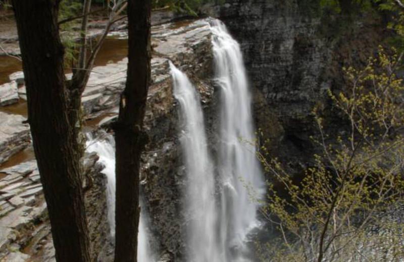 Waterfall at S & J Lodge.