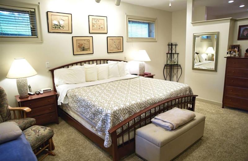 Guest room at River Ridge Inn.