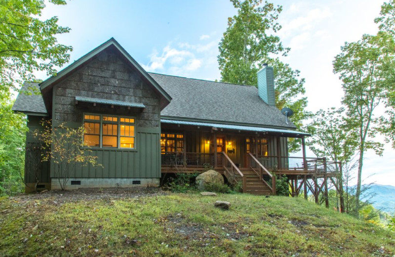 Cabin Exterior At Smoky Mountain Getaways.