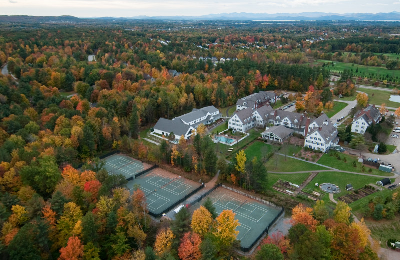 Aerial view of Essex Resort & Spa.