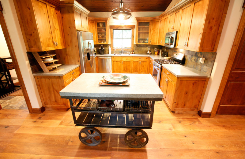 Bunk house kitchen at Morrell Ranch.