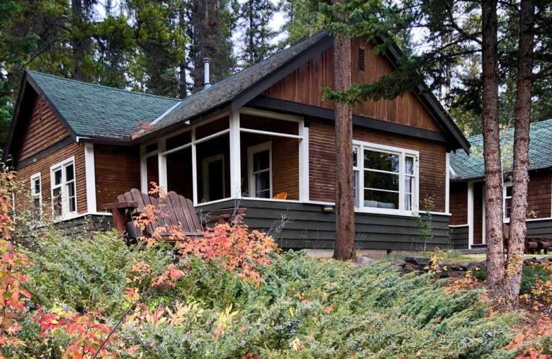 Cabin exterior at Johnston Canyon Lodge & Bungalows.