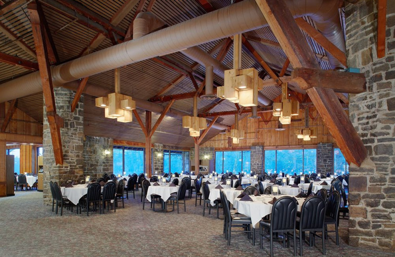 The Dining Room at Pocono Palace Resort where you can enjoy a themed menu every night of the week.