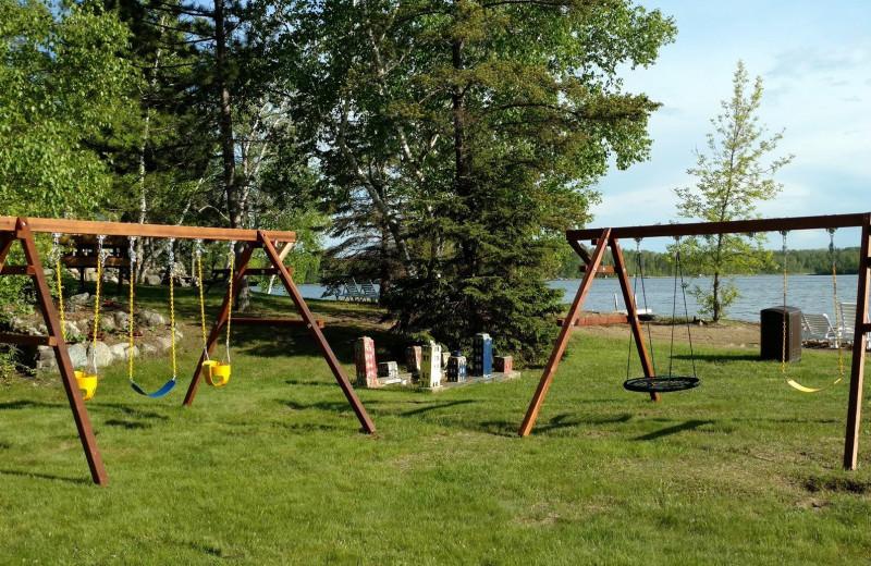 Playground at Little Norway Resort.