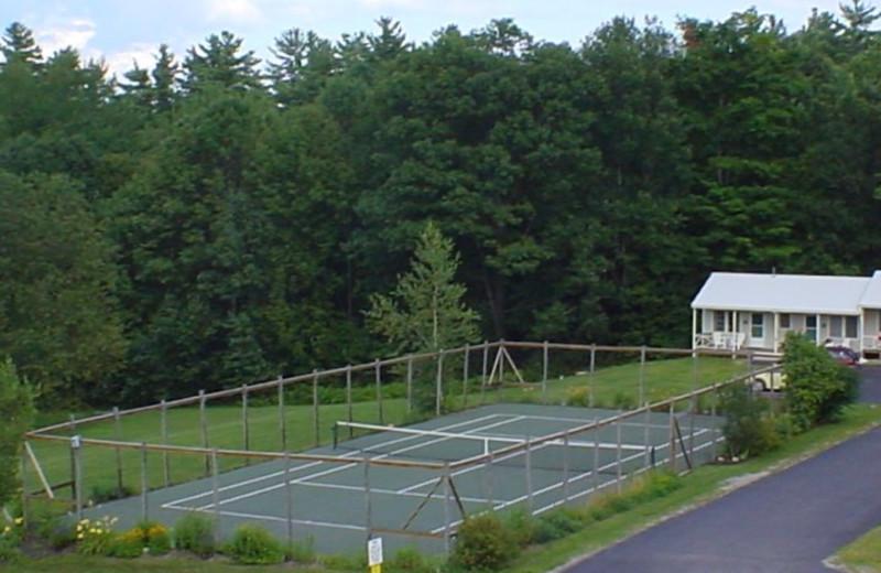 Tennis courts at Highland Lake Resort.