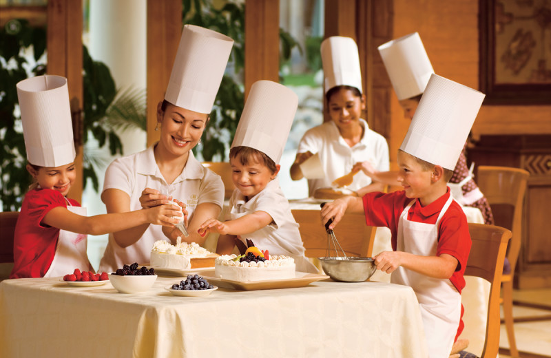 Kid's cooking class at  Los Cabos Resort.