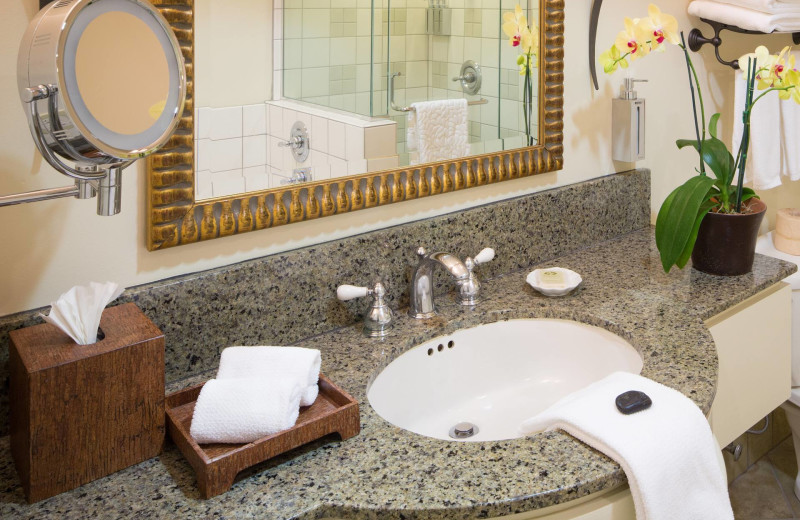Guest bathroom at The Tradewinds at Carmel-by-the-Sea.