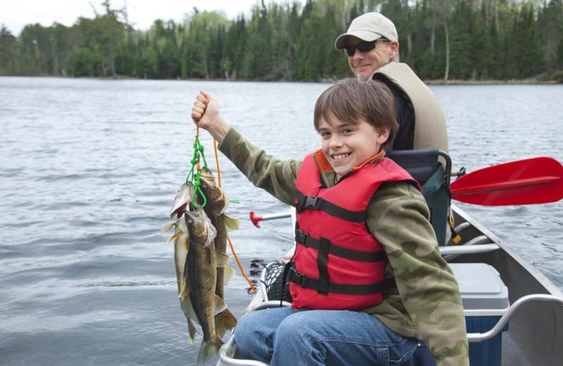Fishing at Lake Ridge Resort.