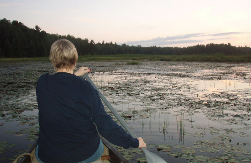 Canoeing at White Birch Village Resort.