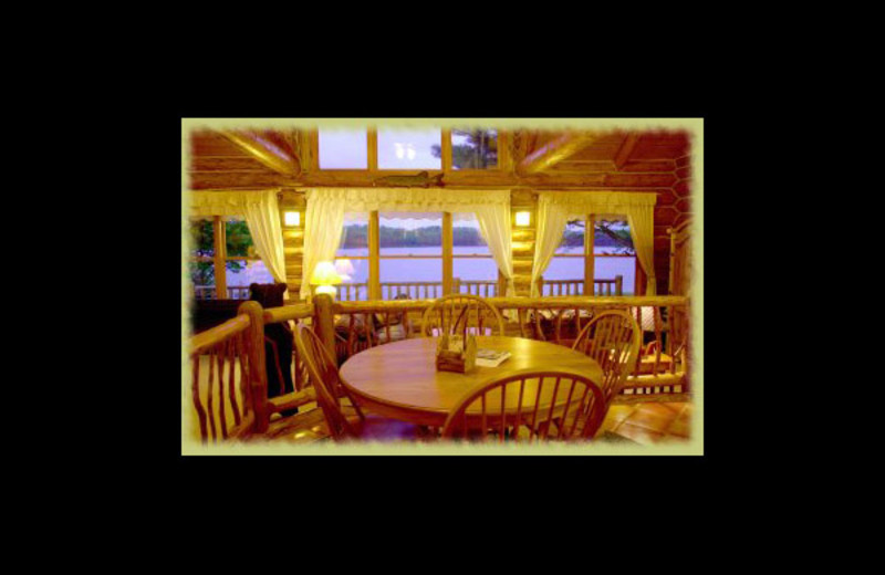 Cabin interior at Still Waters Executive Retreat.