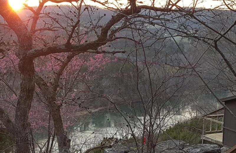 Spring at Arkansas White River Cabins.