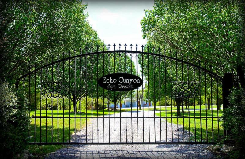 Gates at Echo Canyon Spa Resort.