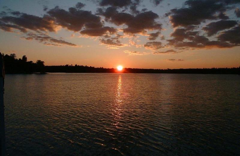 Sunset at Clear Lake Resort.