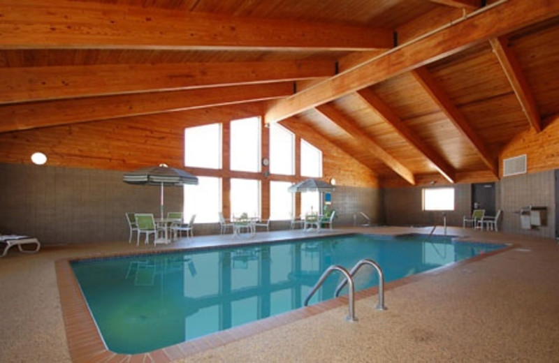 Indoor swimming pool at AmericInn Lodge & Suites Two Harbors.