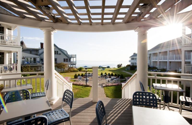 Patio view at Beachmere Inn.