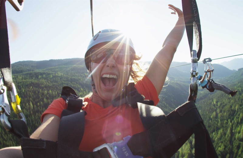 Zip line at Sundial Boutique Hotel.