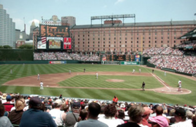Baltimore Orioles Baseball near by Best Western Baltimore.