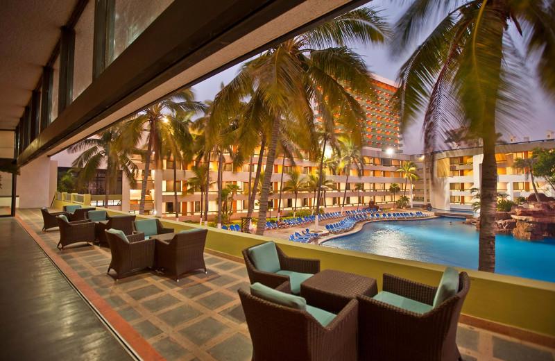 Outdoor pool at El Moro Beach Hotel.