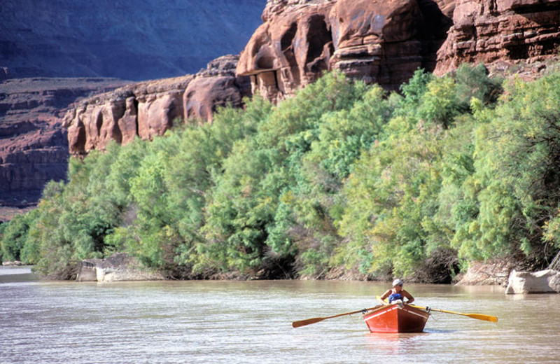 Boating near Moab Under Canvas