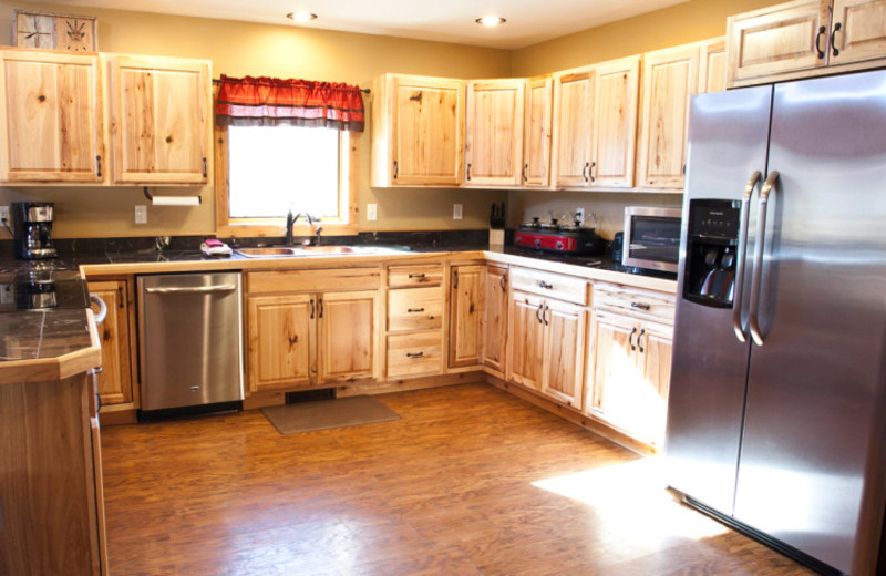 Cabin kitchen at High Country Guest Ranch.