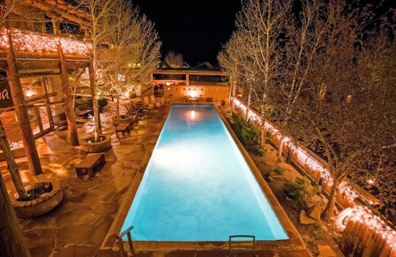 Outdoor pool at Chipeta Solar Springs Resort.