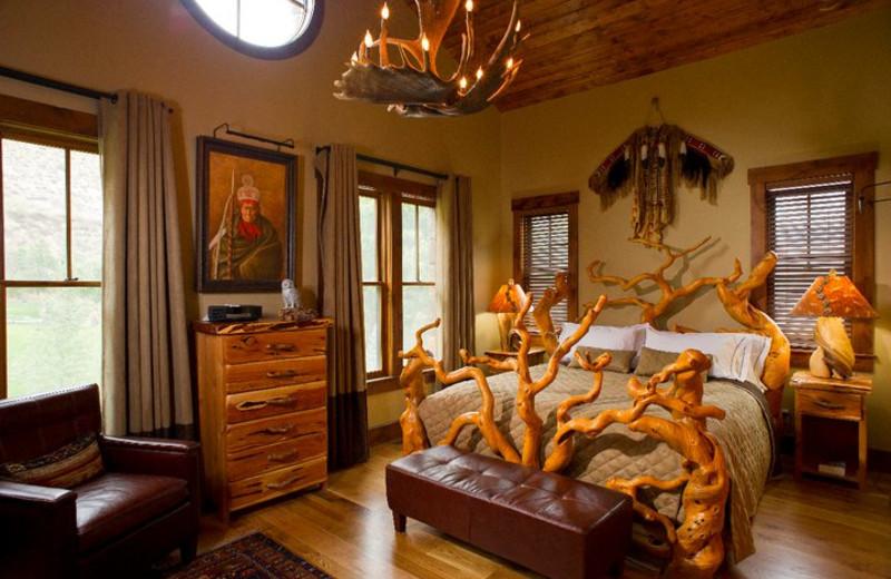 Guest room at Kessler Canyon.