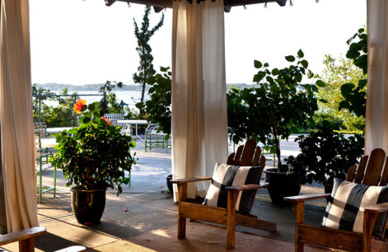 Porch view at The Pridwin Beach Hotel & Cottages.