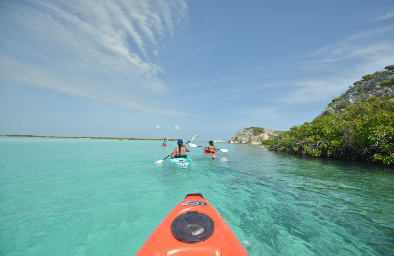 Kayaking at East Bay Resort.