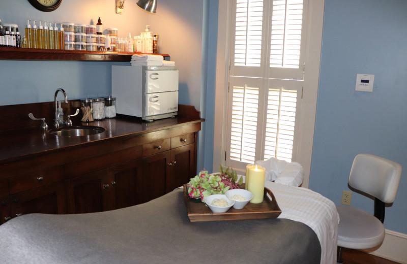 Spa massage room at Boar's Head Resort.