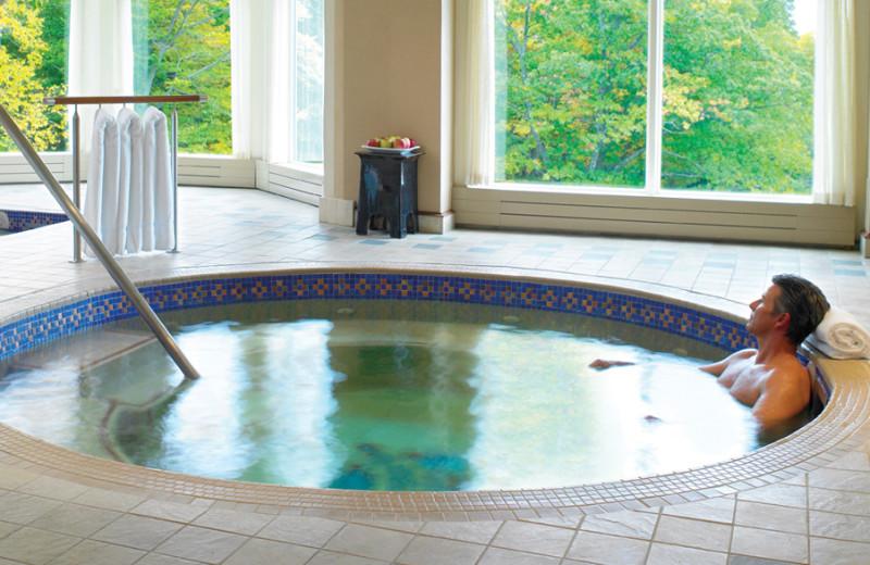 Hot tub at Canyon Ranch in Lenox.