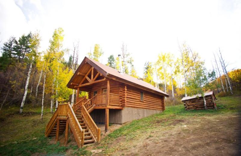 Cabin exterior at Kessler Canyon.