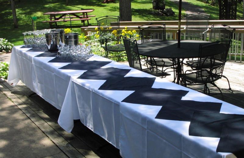 Wedding reception at Lost Lake Lodge.