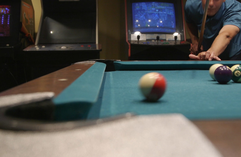 Pool table at The Meadowmere Resort.